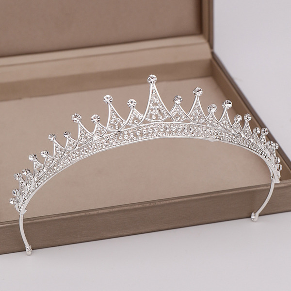 Ladies Romantic Rhinestone/Alloy Tiaras (Sold in single piece)