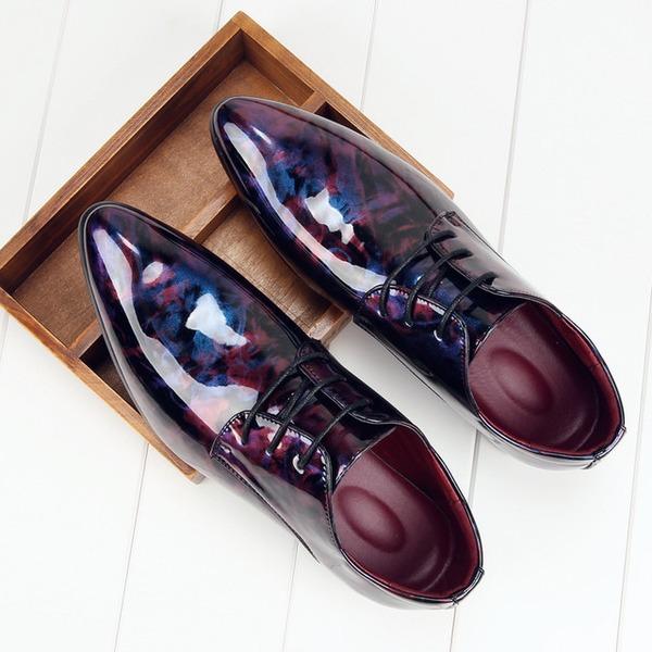 Herren Kunstleder Zuschnüren Lässige kleidung Abendschuhe Herren-Oxford-Schuhe