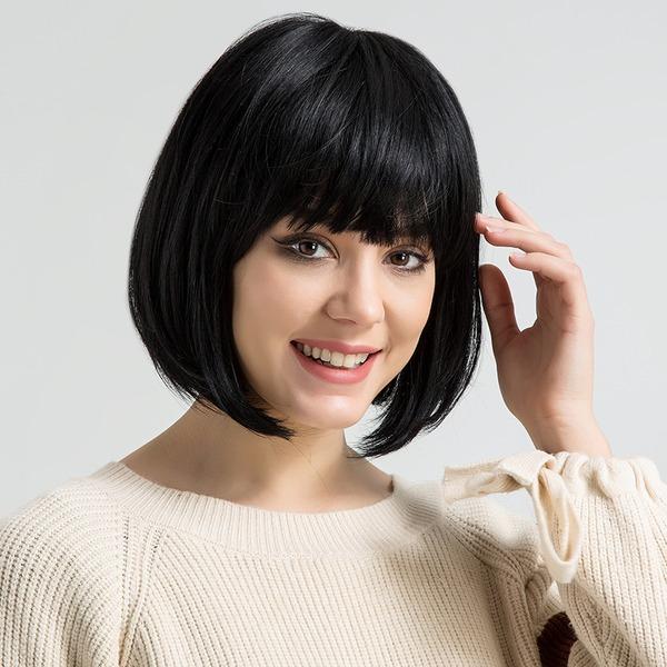 Kinky Straight Mélange de cheveux humains Perruques pour cheveux humains 120g