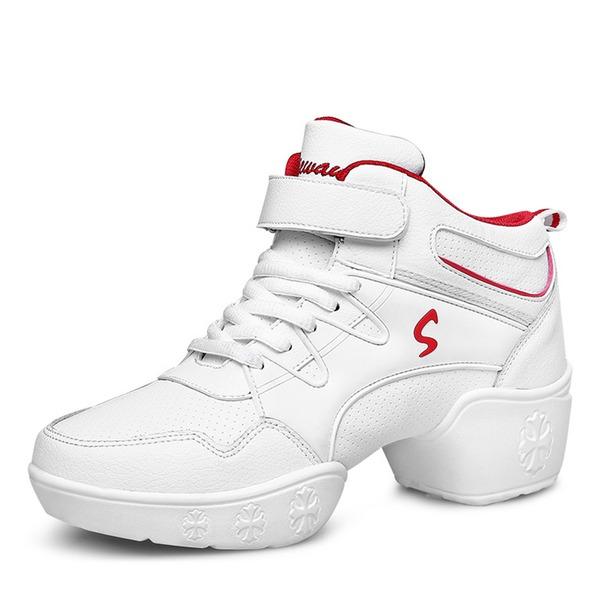Femmes Similicuir Vrai cuir Tennis Modern Style Jazz Baskets Chaussures de danse