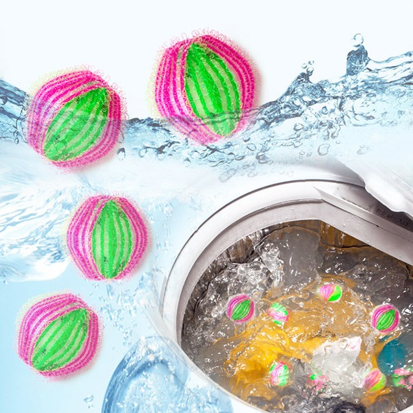 Bolas de lavagem de bolas de bolas mantendo a lavanderia Máquina de lavar roupa suave Fresco de tecido de secagem (Conjunto de 6) Presentes