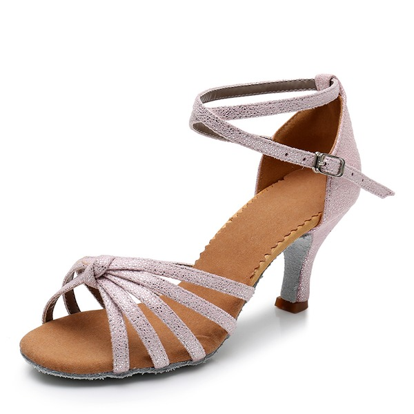 Women's Leatherette Latin With Buckle Dance Shoes