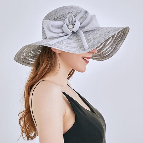 Senhoras Clássico/Elegante Renda com Bowknot Chapéus praia / sol