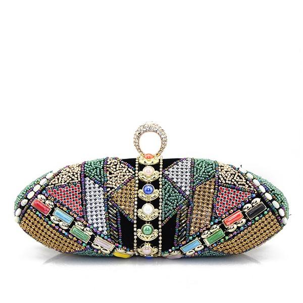 Einzigartig Wildleder/Perlstickerei Handtaschen