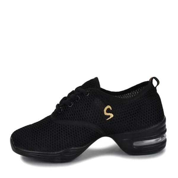 Femmes Tissu Tennis Baskets avec Dentelle Chaussures de danse