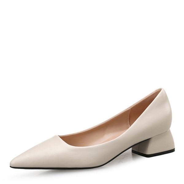 Donna Similpelle Tacco spesso Stiletto Punta chiusa con Altrui Spalline intrecciate Con risvolto Fascia di gomma scarpe