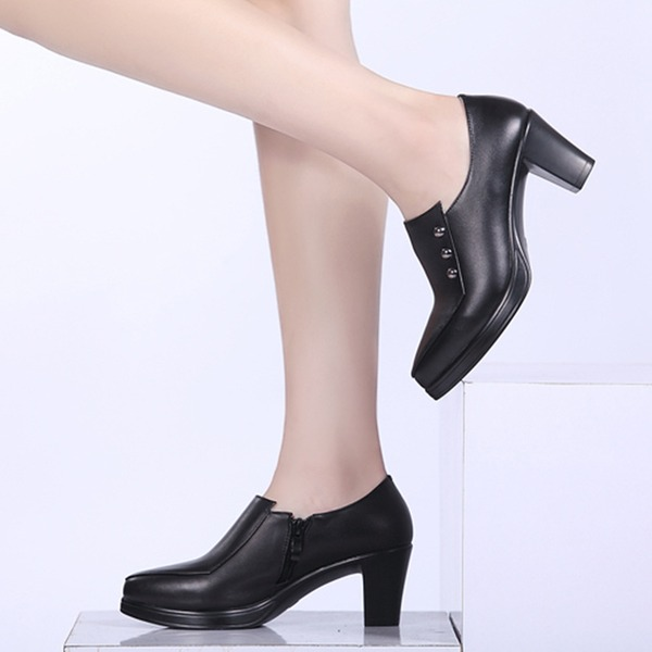 Women's Real Leather Pumps Dance Shoes