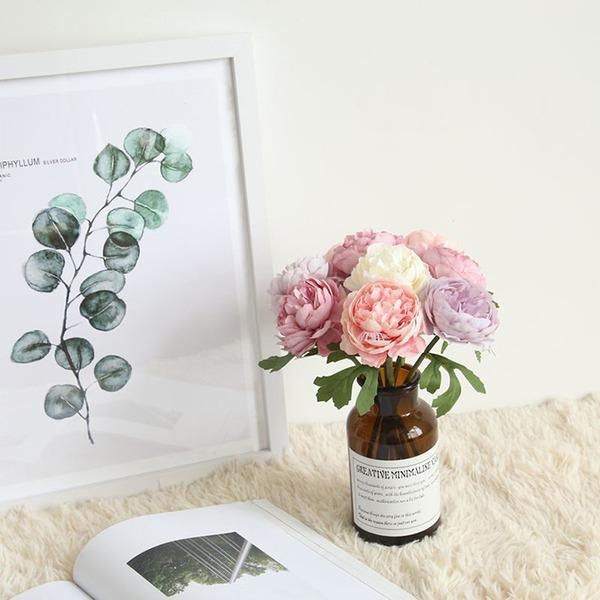"""Disegno del fiore Nizza/""""Bellissimo Fiore"""" Fiore di seta Fiori Artificiali (Set di 4)"""