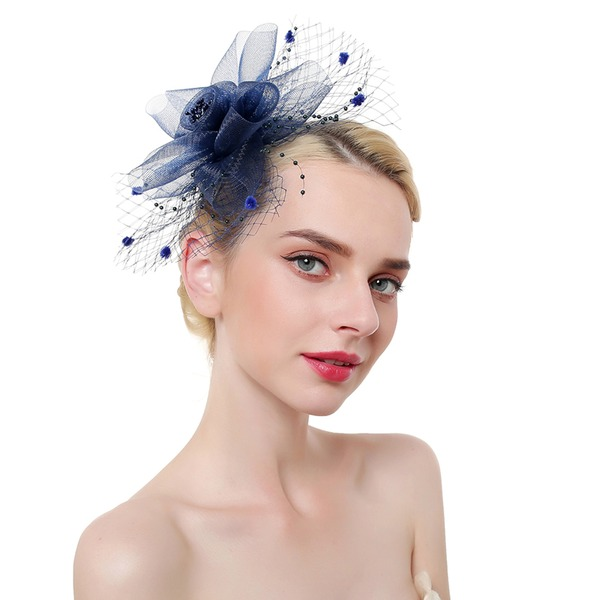 Dames Élégante/Accrocheur/Charme Feather/Fil net avec Feather Chapeaux de type fascinator