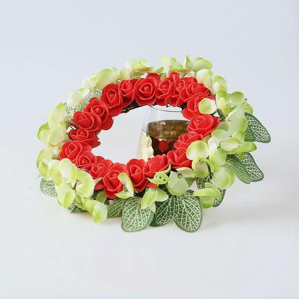Nice Redondo/Atraente Flores Artificiais Decorações de Casamentos