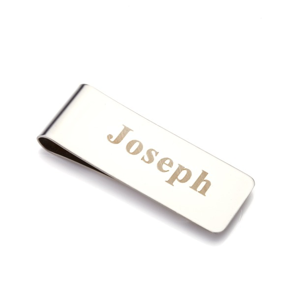 Personalized Stainless Steel Money Clips (Set of 6)
