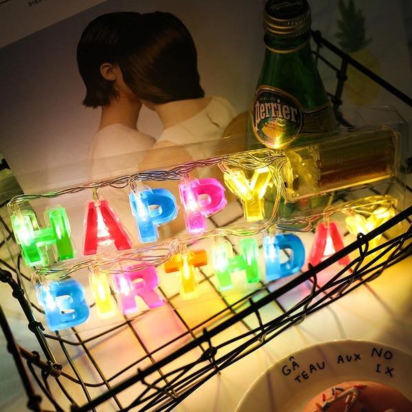 Enkle/Nice Dejligt/Letter PVC LED Lys (Sælges i et enkelt stykke)