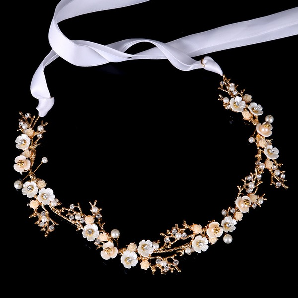 Ladies Beautiful Rhinestone/Alloy/Imitation Pearls Headbands With Rhinestone/Venetian Pearl