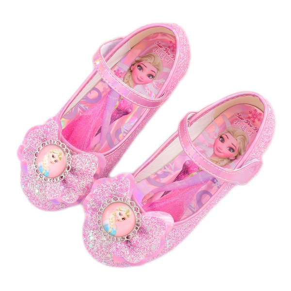 Pigens Lukket Tå Leatherette Flower Girl Shoes med Bowknot