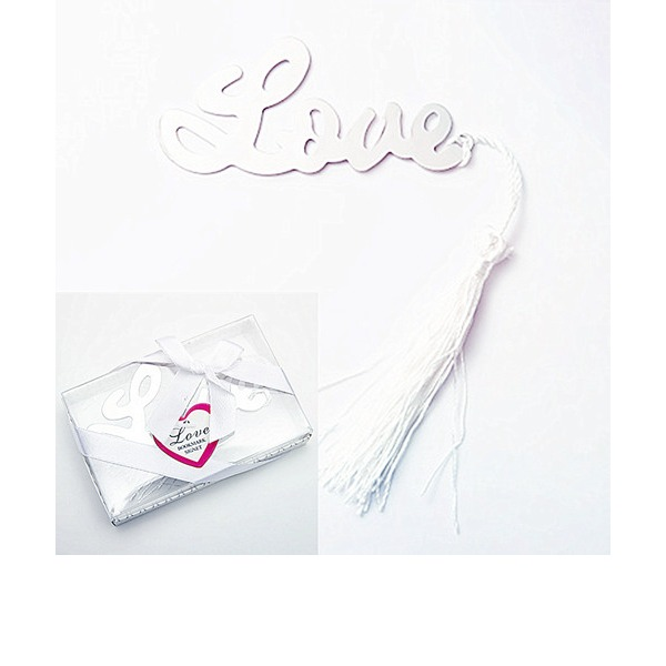 "Words of Love"" Silver-Finish Bookmark"