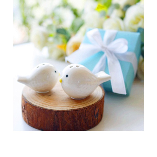 """Love Bird"" AnimalShaped Ceramiczny Salt & Pepper Shakers (Zestaw 2)"
