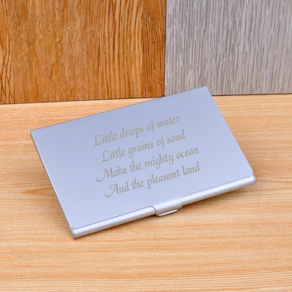 Personalized Simple Design Stainless Steel Card Case