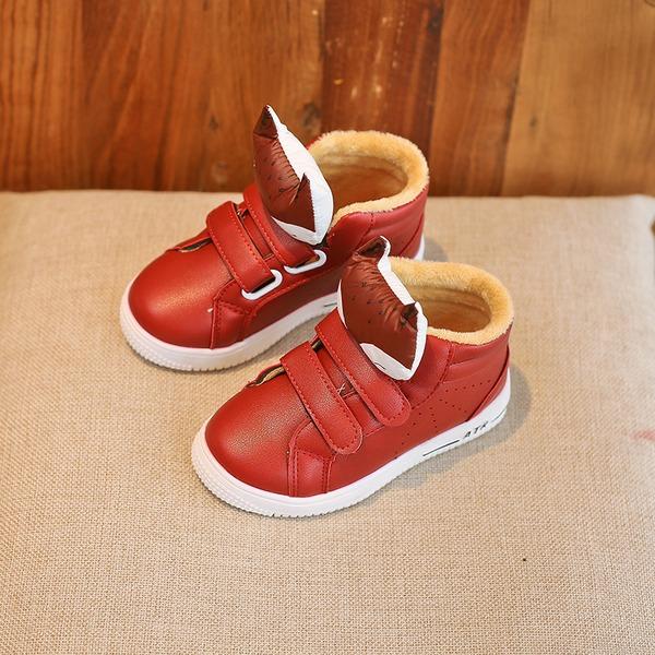 Unisexe similicuir talon plat bout rond Chaussures plates avec Velcro La copie Animale