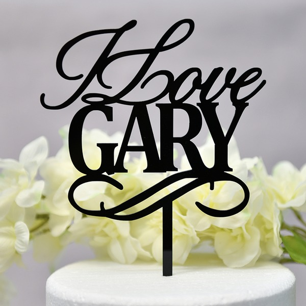Personalized Classic Couple Acrylic Cake Topper (Sold in a single piece)