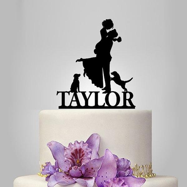 kişiselleştirilmiş Klasik Çift Akrilik Kek Topper