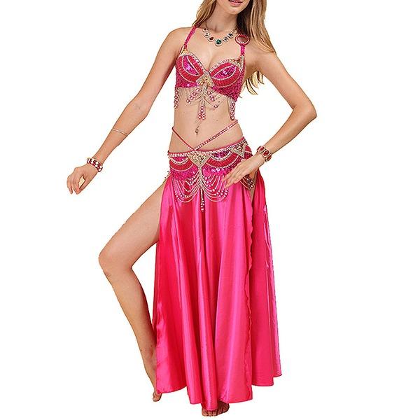 Mulheres Roupa de Dança Poliéster Dança do Ventre Roupa