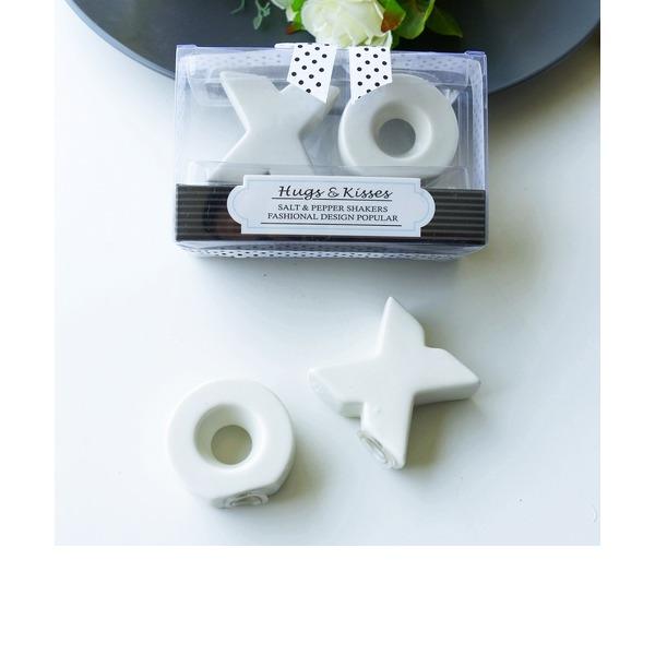 Classic/Lovely Ceramic Salt & Pepper Shakers (Set of 2)