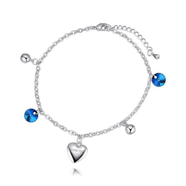 Hart Gevormd Kristal Koper met Imitatie Kristal Fashion Armbanden (Verkocht in één stuk)