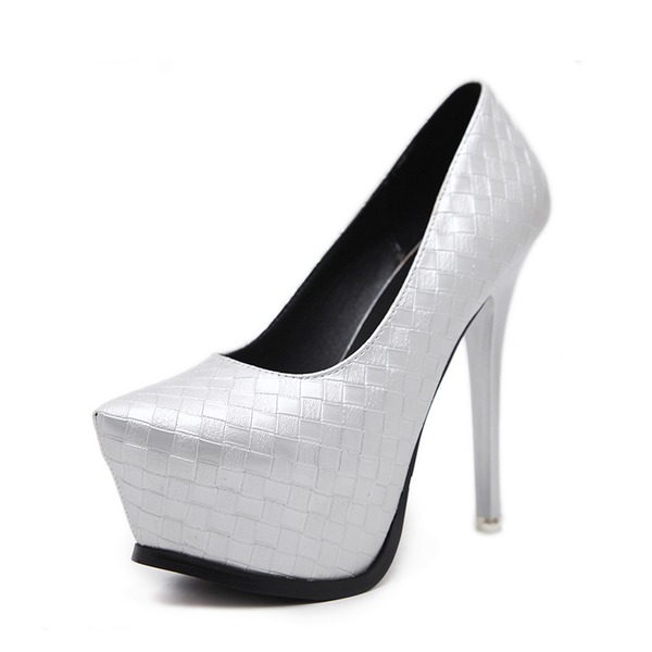 Frauen PU Stöckel Absatz Sandalen Absatzschuhe Plateauschuh Peep Toe mit Andere Schuhe