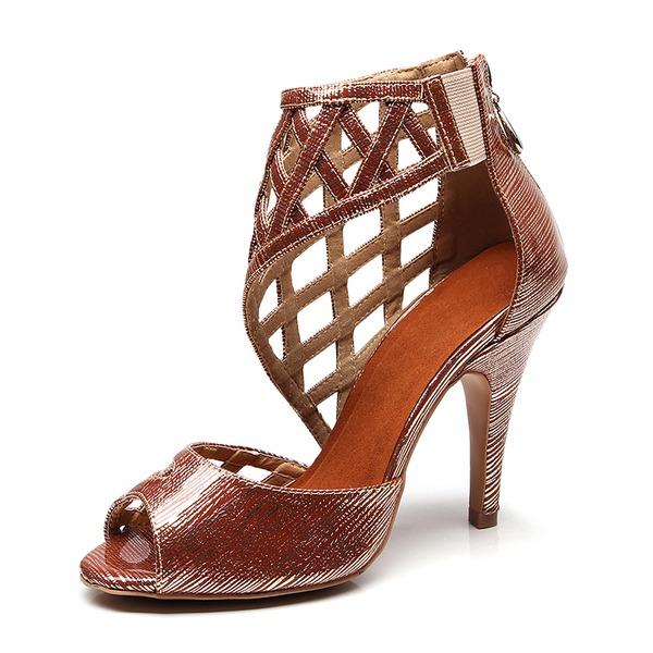 Kadın Suni deri Topuk Latin Dans Ayakkabıları