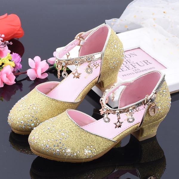 Jentas Round Toe Lukket Tå Leather Flower Girl Shoes