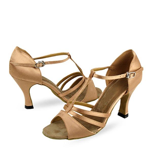 De mujer Satén Sandalias Danza latina Zapatos de danza
