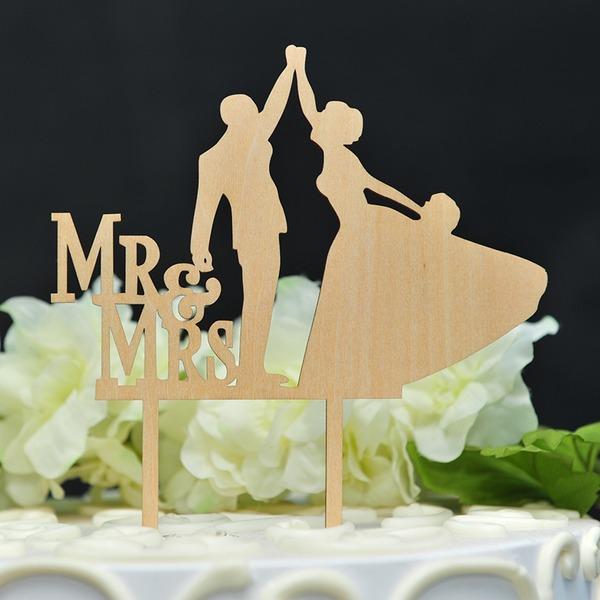 Pareja de baile Madera Decoración de tortas