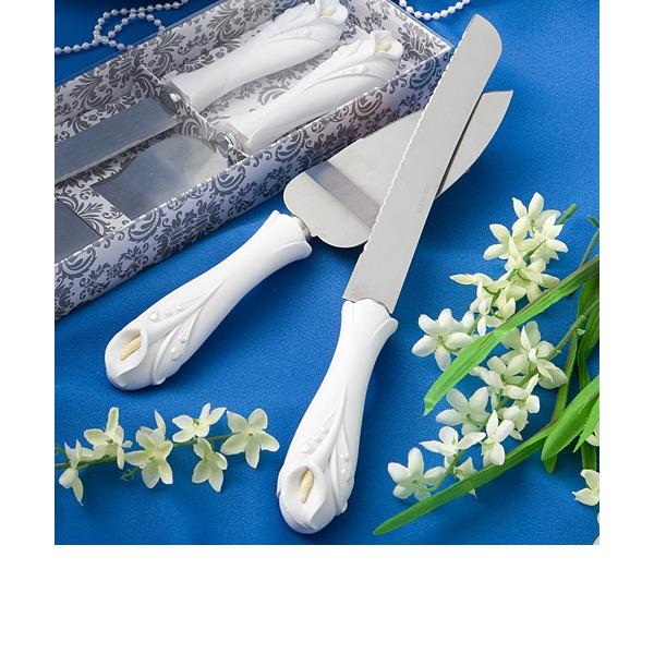 Verdoso Diseño Flor del lirio Servicio de Mesa