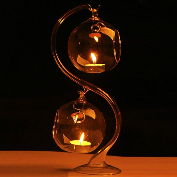 vackra och Högt borosilikatglas Heminredning (Säljs i ett enda stycke)