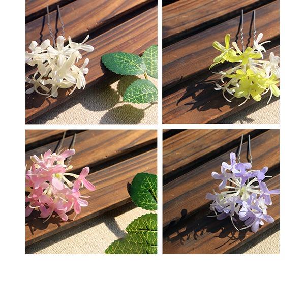 Dámy Speciální Silk Flower Jehlice do vlasů