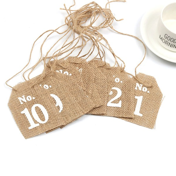 Linen Place Card Holders (Set of 10)
