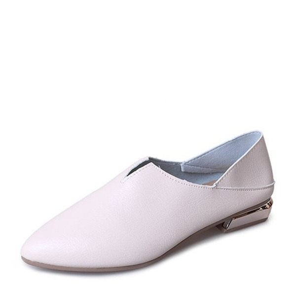 Kvinner Lær Flat Hæl Flate sko Lukket Tå sko