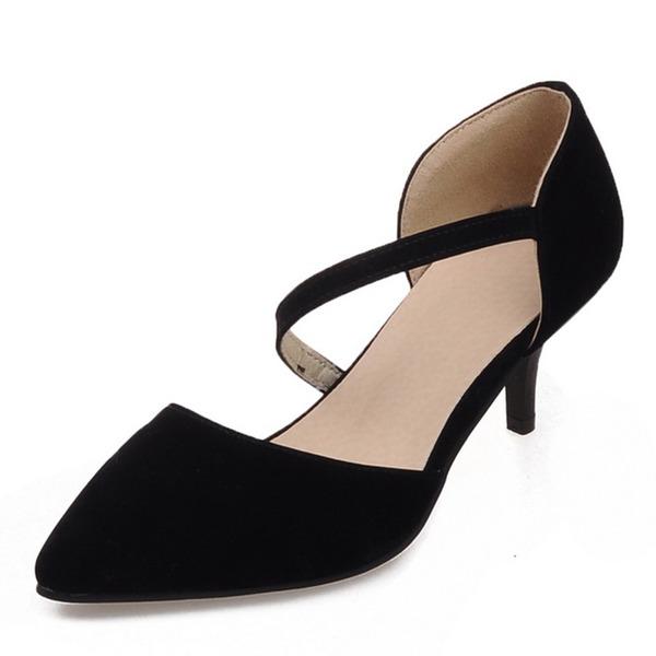 Kvinnor Mocka Stilettklack Sandaler Pumps Stängt Toe med Andra skor