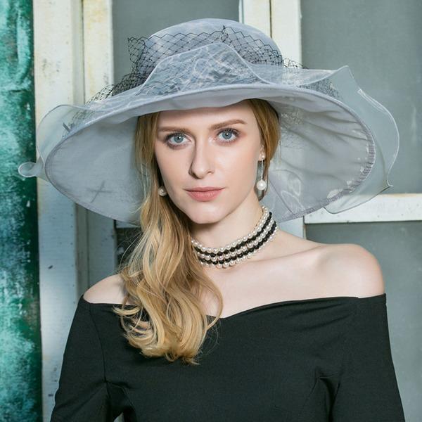 Dames Elegant Organza Slappe Hat