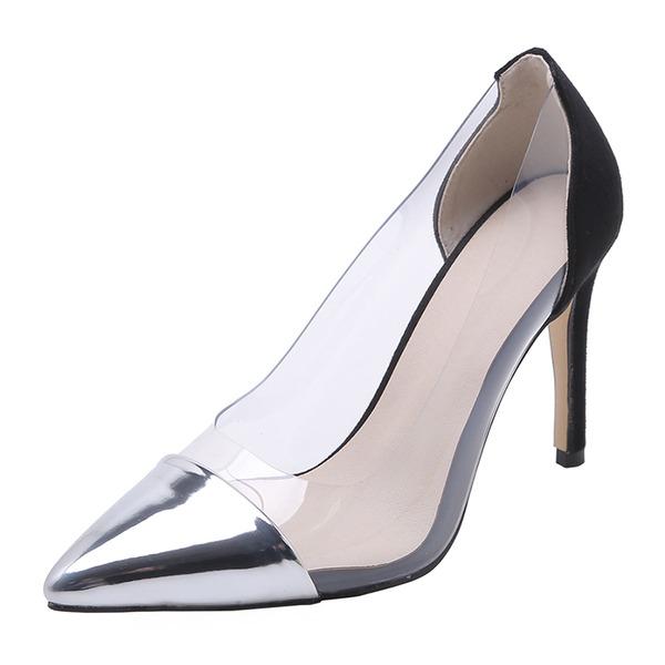 Dla kobiet Skóra Lakierowana Guma Obcas Stiletto Czólenka أحذية