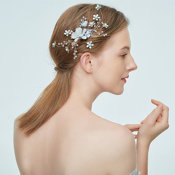 Ladies Shining Alloy Hairpins With Rhinestone/Venetian Pearl (Sold in single piece)