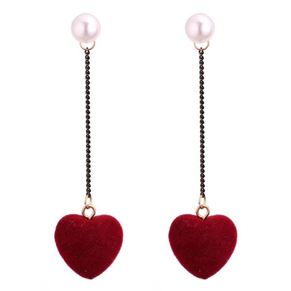 Exquis De faux pearl Cuivre avec Perle d'imitation Femmes Boucles d'oreille de mode (Lot de 2)