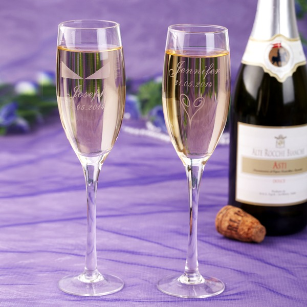 Personalized Getting Together Crystal Toasting Flutes (Set Of 2)
