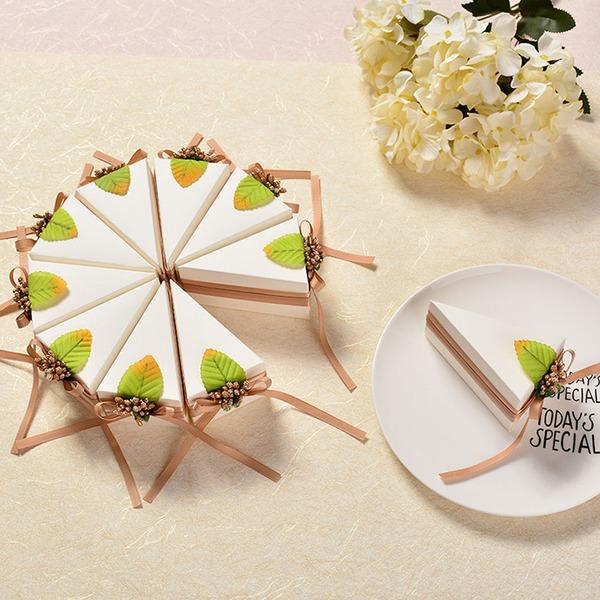 Süße Liebe/Kreative/Schön/Elegant Cubic Karton Papier Geschenkboxen mit Blumen/Bänder (Satz 10)