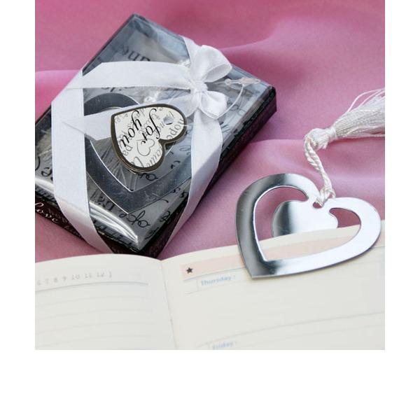 """""""Love Story"""" Ve tvaru srdce Nerez ocel Záložky & Nože na dopisy S Saténové stuhy/Střapaté"""