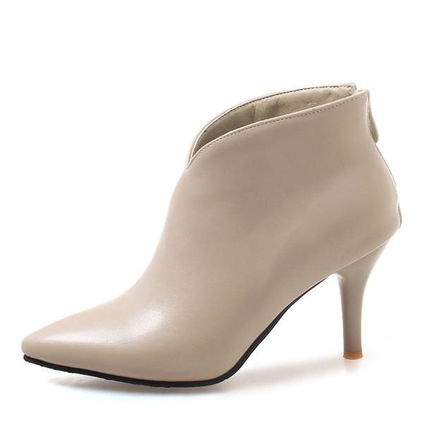 Donna Similpelle Tacco a spillo Stiletto Stivali Stivali alla caviglia con Altrui scarpe