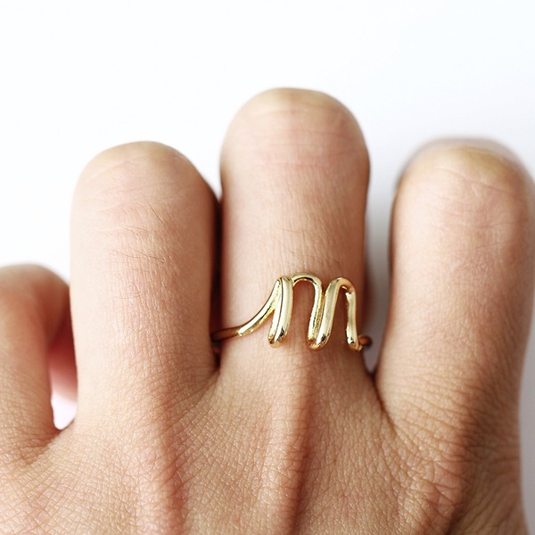 Simple Alloy Women's Fashion Rings (Sold in a single piece)