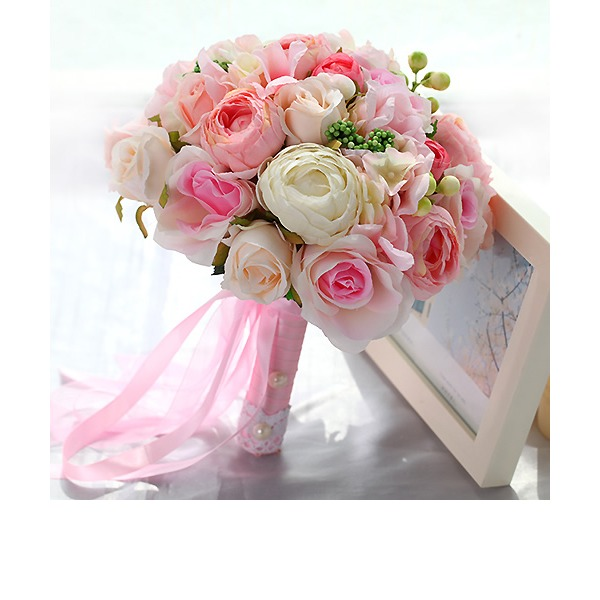Girly Round Fabric Bridal Bouquets/Bridesmaid Bouquets -