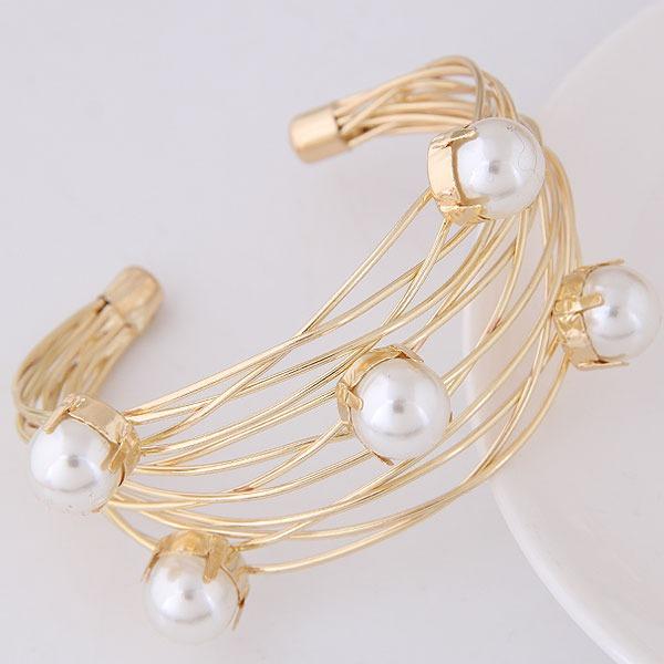 Mode Alliage De faux pearl Dames Bracelets de mode