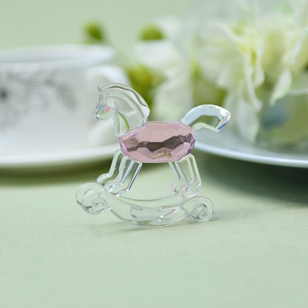 Lindo Animal Hobbyhorse Shaped Crystal Cristal Artículos